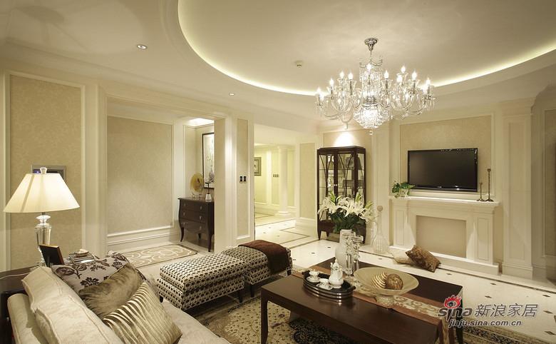美式 三居 客厅图片来自佰辰生活装饰在9万打造120平时尚美式三口之家81的分享