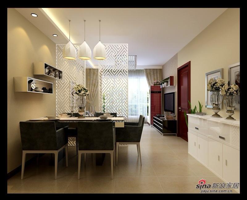 简约 三居 餐厅图片来自用户2738829145在5.7万装88平新时尚简约小3居38的分享