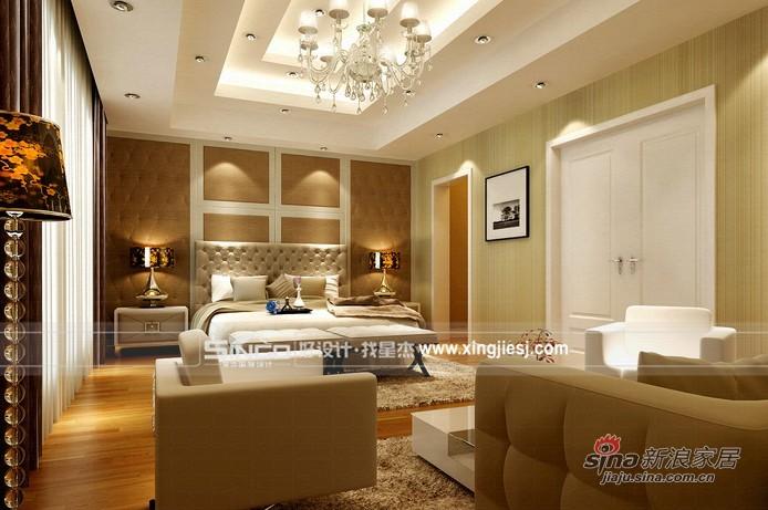欧式 别墅 卧室图片来自用户2772856065在灰白基调衬托简单生活93的分享