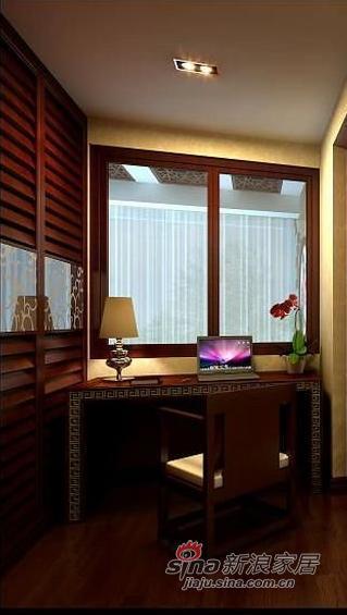 中式 三居 书房图片来自用户1907662981在6万装143平新中式风格三居20的分享