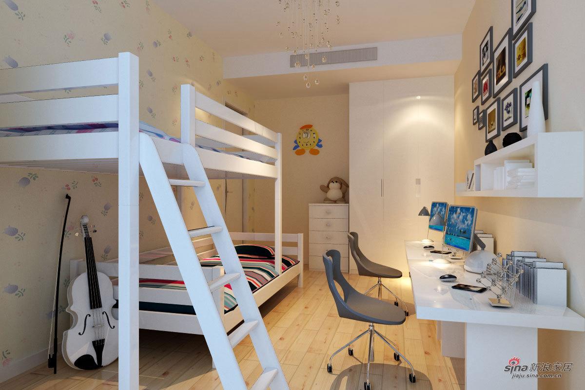 简约 四居 儿童房图片来自用户2745807237在6.2万打造138平四居朴素真谛家居88的分享