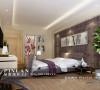 紫色主卧室设计