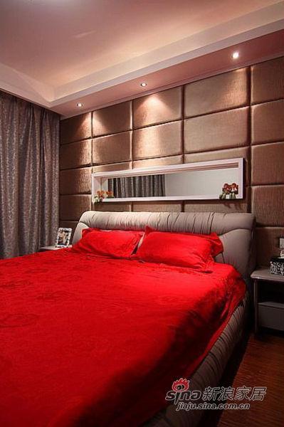 简约 三居 卧室图片来自佰辰生活装饰在10万打造100㎡黑白优雅家70的分享