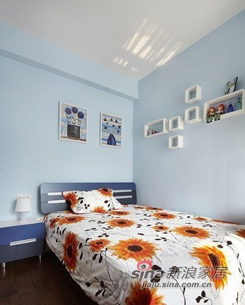 简约 三居 儿童房图片来自佰辰生活装饰在100平现代简约温馨三居80的分享