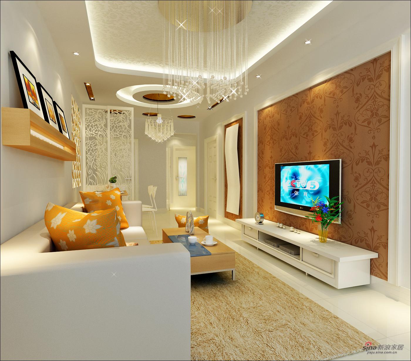 简约 三居 客厅图片来自用户2737735823在小面积大容量91平小三居巧妙设计38的分享