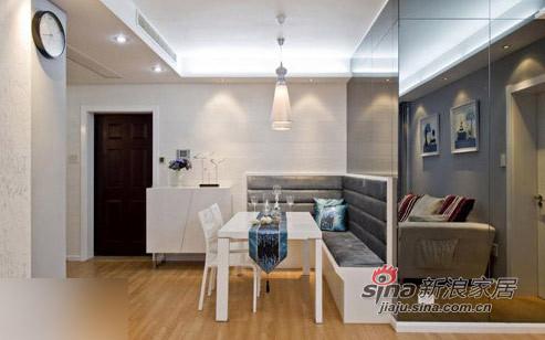 """简约 二居 客厅图片来自用户2737759857在80后16万装2居婚房很""""蓝调""""69的分享"""