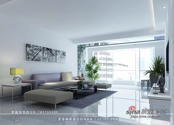 简约 三居 客厅图片来自用户2738093703在少点、再少点----极少主义风格23的分享