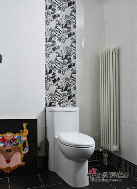 其他 三居 卫生间图片来自用户2557963305在20万打造硬朗黑白搭配甜美风三居室25的分享