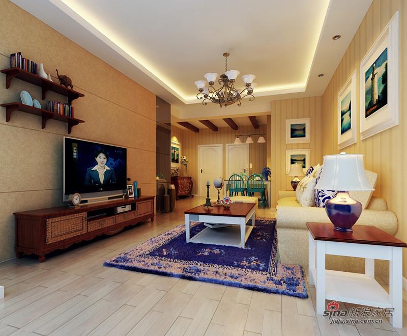 简约 一居 客厅图片来自用户2739378857在异域风情的浪漫两居室99的分享