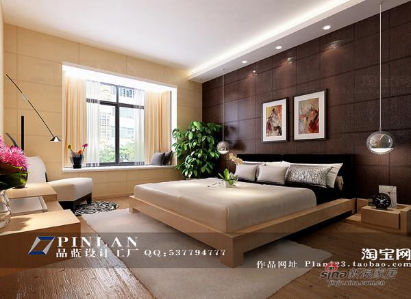 黄色主卧室设计,深紫色床头背景墙设计,温