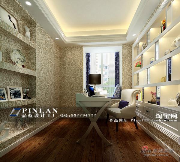 简欧风格书房设计