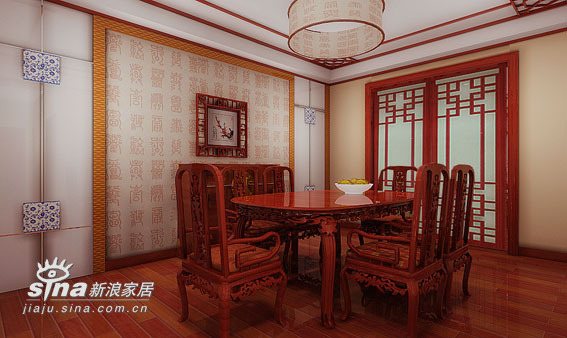 中式 四居 餐厅图片来自用户2737751153在260平米中式20的分享