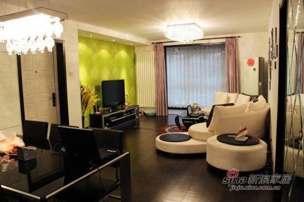简约 二居 客厅图片来自用户2556216825在甜蜜夫妻130平超炫小资婚房20的分享