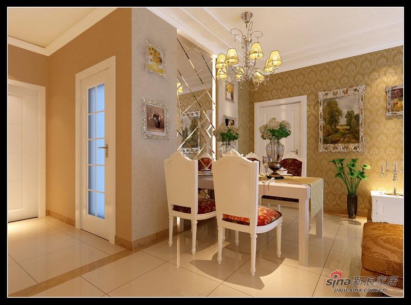 欧式 三居 餐厅图片来自用户2745758987在112平米3室1厅温馨欧式惊艳亮相48的分享