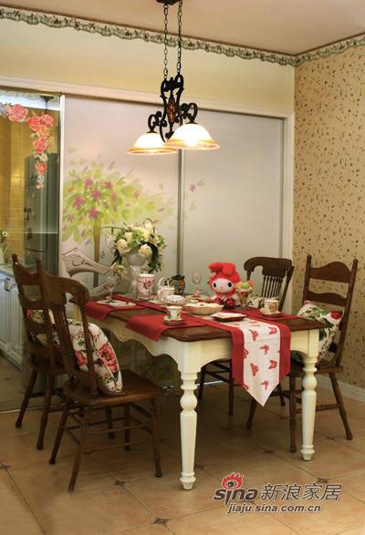 田园 三居 餐厅图片来自用户2737791853在130平偏偏爱上你的美式田园家装53的分享