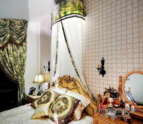 混搭 三居 卧室图片来自用户1907655435在120平欧式复古混搭小户型公寓71的分享