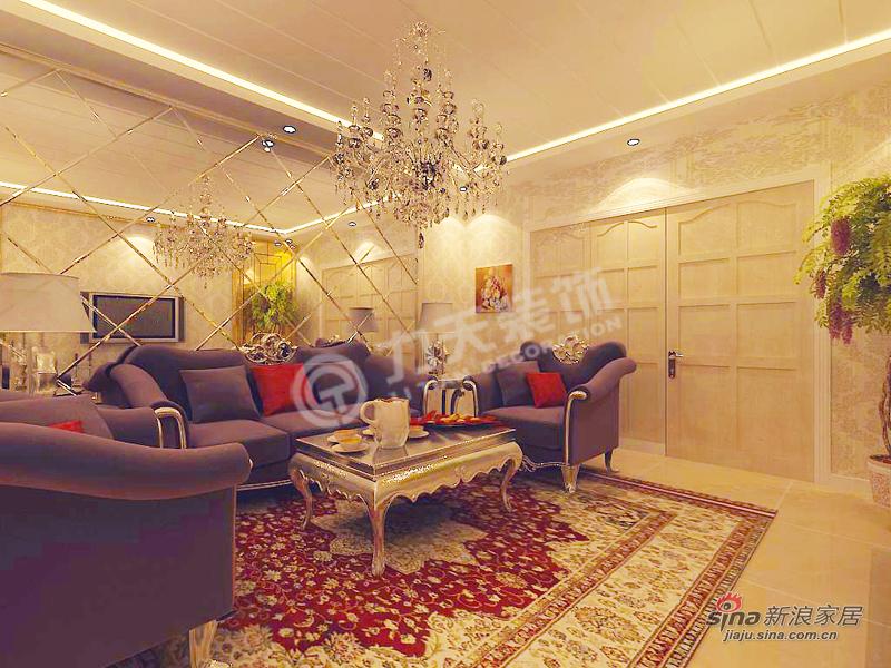 新古典 二居 客厅图片来自阳光力天装饰在天地源欧築1898-2室2厅2卫1厨-新古典39的分享