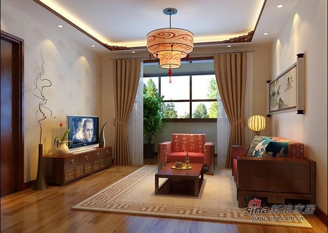 中式 三居 客厅图片来自用户1907658205在115平3居室新中式舒适爱家35的分享