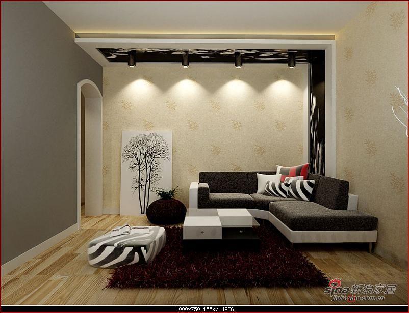 简约 一居 客厅图片来自用户2738820801在5万打造60平米手法独特的后现代风格韵律25的分享