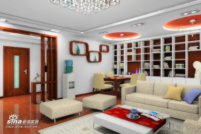 简约 三居 客厅图片来自用户2739153147在54290元精心打造125平米缤纷色彩的居家空间43的分享
