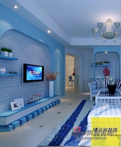 地中海 二居 客厅图片来自用户2756243717在实景装修地中海风格,7万精装96平米二居76的分享