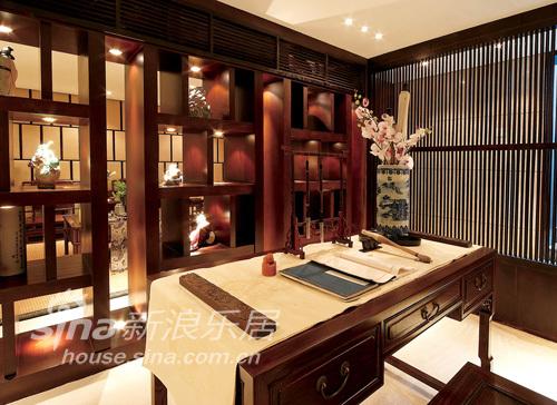 中式 别墅 书房图片来自wulijuan_16在春亭装潢 新中式滨海御庭T1型别墅67的分享
