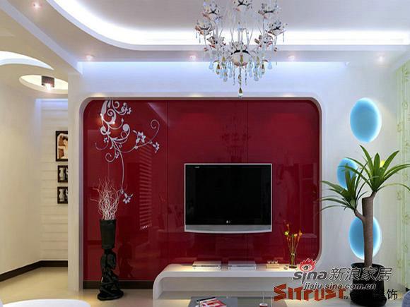 简约 二居 客厅图片来自用户2558728947在5万6打造80平米经典二居31的分享
