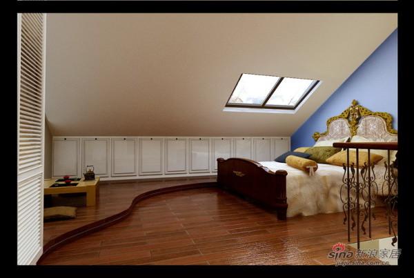 卧室 ;充分利用坡屋顶的空间 地台的随意