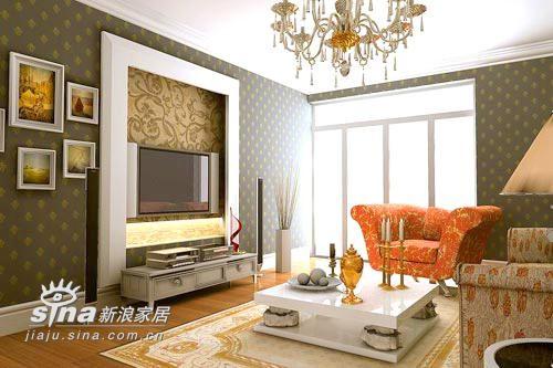 欧式 三居 客厅图片来自用户2746948411在小空间的欧式风格55的分享