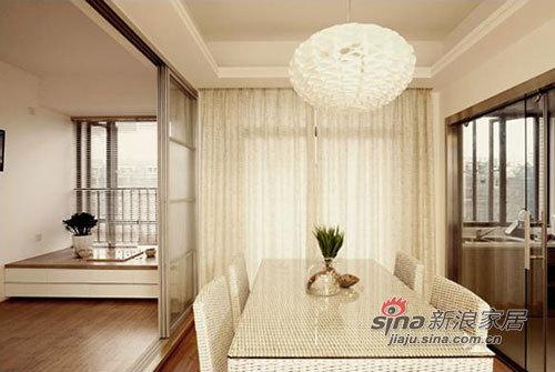 简约 三居 餐厅图片来自用户2738093703在力求120平米空间设计的内敛,灰色主调风格90的分享