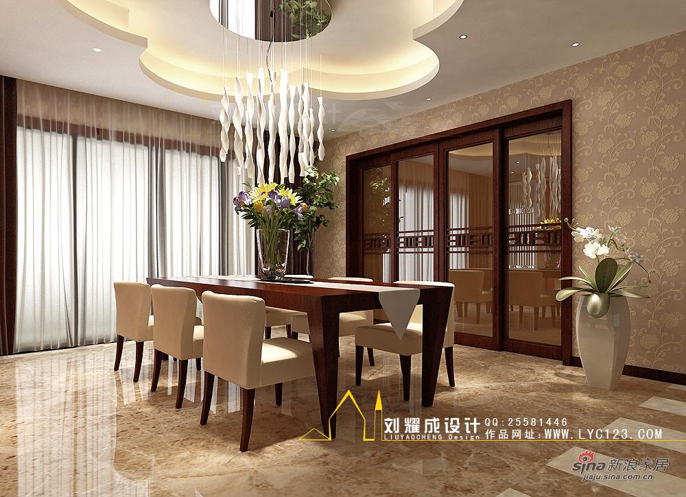中式 复式 餐厅图片来自用户1907658205在【高清】新中式的贵族复兴300平复式楼30的分享
