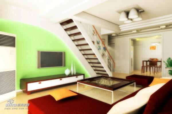 简约 复式 客厅图片来自用户2557979841在返璞归真(复式250平)76的分享
