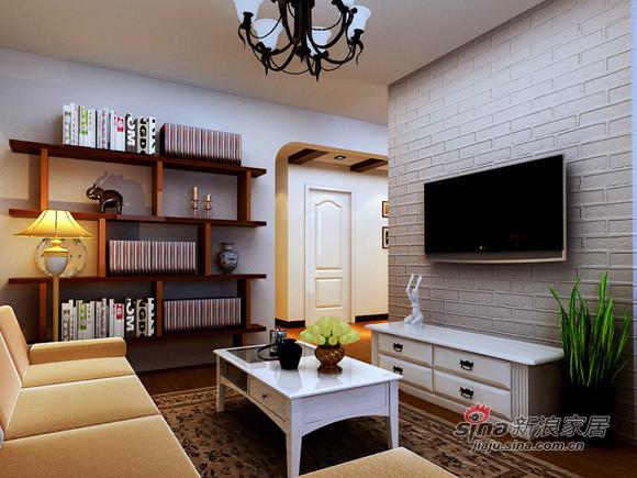 地中海 二居 客厅图片来自用户2756243717在5万打造80平米实用简约2居室61的分享