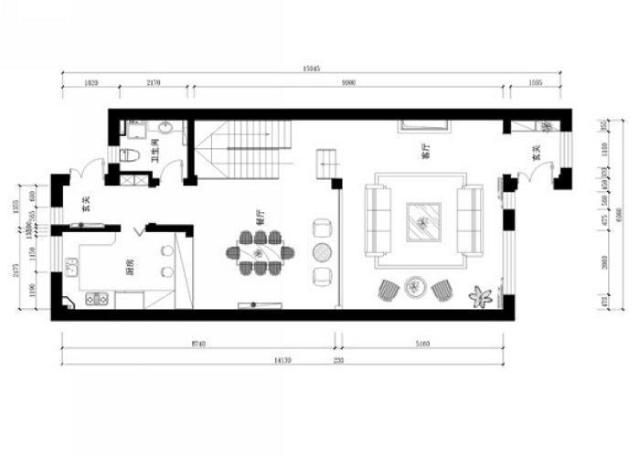 其他 别墅 户型图图片来自用户2558757937在翡翠城260平米新古典设计13的分享