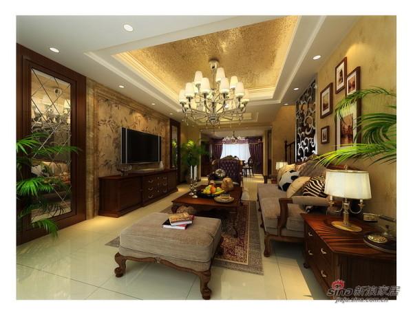 简约奢华稳定欧式客厅设计