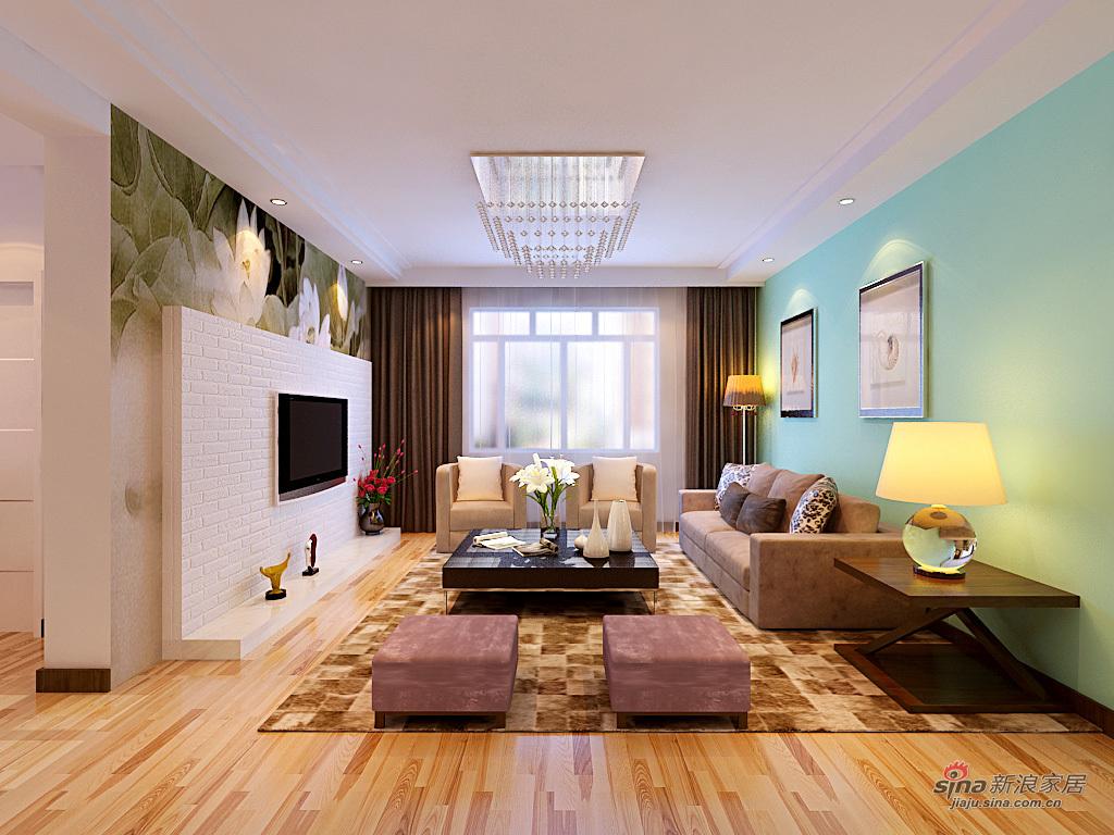 简约 三居 客厅图片来自用户2737950087在电塔家园153平简约装修69的分享
