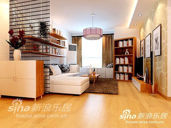 简约 二居 客厅图片来自用户2556216825在现代都市简约素雅二居18的分享