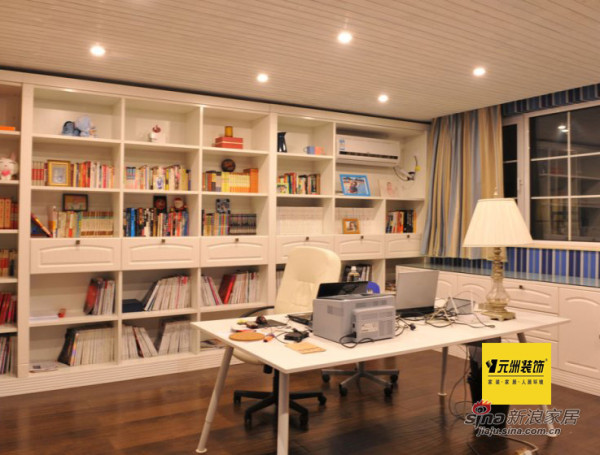 元洲案例领秀新硅谷书房实景图