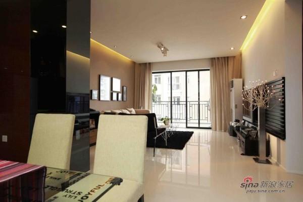 南辰景秀88平米客厅装修实景
