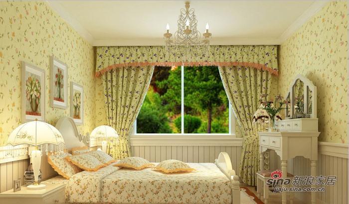 田园 一居 卧室图片来自用户2737946093在5.5万打造明光翡翠湾小户型田园风格21的分享