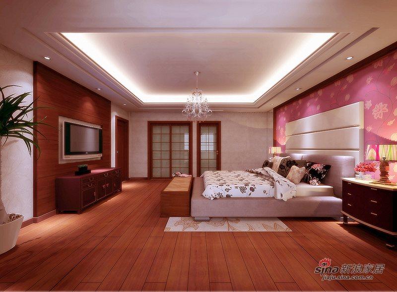 中式 别墅 卧室图片来自wulijuan_16在300平米现代中式50的分享