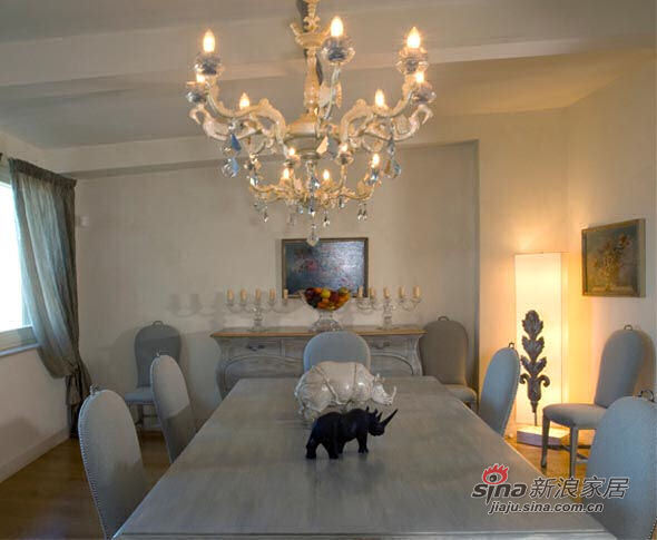 欧式 别墅 餐厅图片来自用户2772873991在感受来自地中海的意式田园20的分享