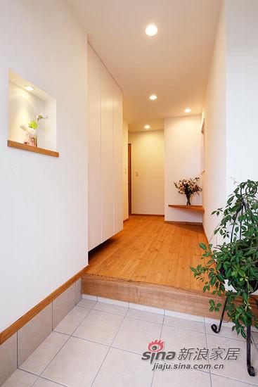 日式原木色玄关设计