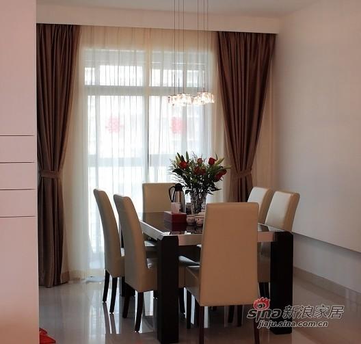 简约 三居 餐厅图片来自用户2738845145在140平3室2厅1卫喜庆婚房50的分享