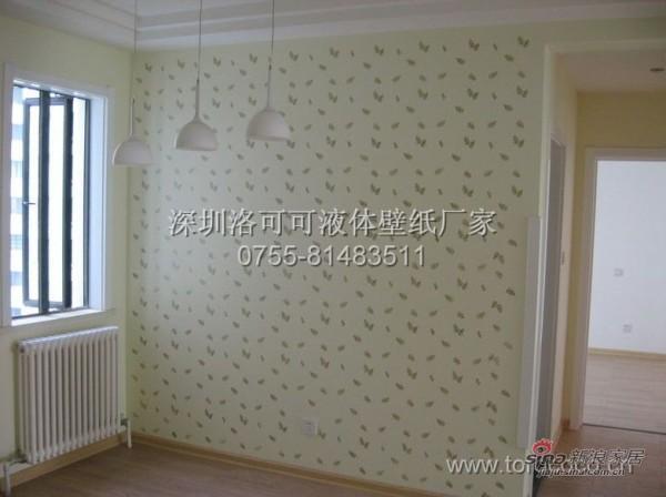 深圳市洛可可液体壁纸施工效果图