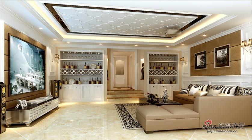 欧式 复式 客厅图片来自用户2745758987在简欧240平洋溢家的旋律72的分享