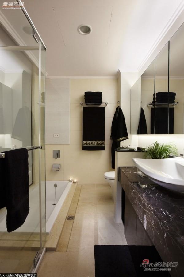 卫浴空间采干湿分璃,降板式的浴缸规划