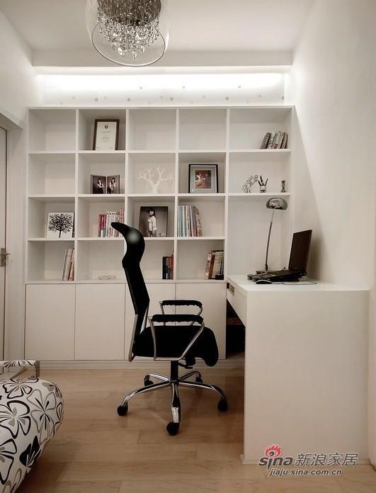 简约 三居 书房图片来自用户2737735823在8.5万装100平简约奢华3居50的分享