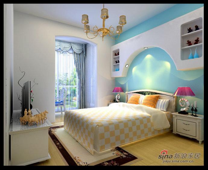 地中海 二居 卧室图片来自用户2757320995在5.4万打造富民河畔家园80平时尚地中海风情19的分享