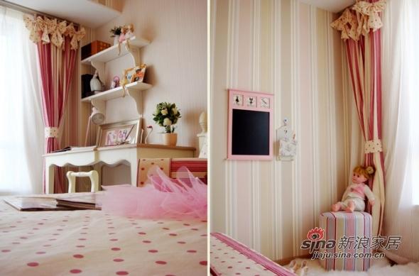 欧式 三居 儿童房图片来自用户2557013183在实景8万美装140平欧式大气3居83的分享